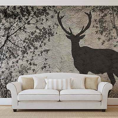 WALL MURAL PHOTO WALLPAPER XXL Modern Abstract Deer Stag (3128WS)