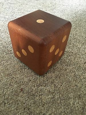 Wooden Dice Cube