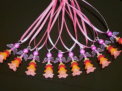 10 FAIRIES/ANGELS-charms 42mm,Kid's Party occasions,multi-colours,Bag Fillers
