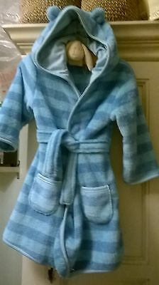 Tu baby boy dressing gown / robe with hood and ears- new