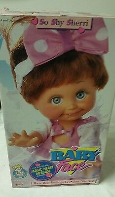 Vintage 1991 Galoob So Shy Sherri Baby Face Doll #3208 With Box