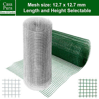 Galvanised PVC Wire Mesh Fencing Net Square Fence Rabbit Panels Plant Support