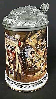 WARRIORS OF THE PLAINS HEALING SPIRITS 1991 Hamilton Collection STEIN COA