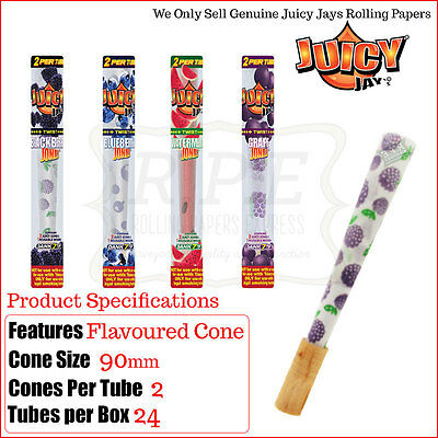 Juicy Jays Jones Pre Rolled Flavour Cones - All Four Flavours - Variations Tubes