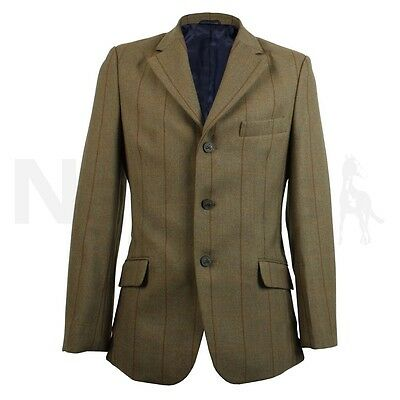 Shires Mens Huntingdon Gents Competition Tweed Show Jacket Free Postage  NEW