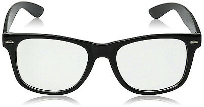 High Quality Retro Nerd Dork Fashion Glasses Black Frame Clear Lens Buddy Clark