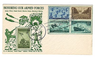 US 1946 WWII FDC Various Armed Forces Military Branches Stamps L16