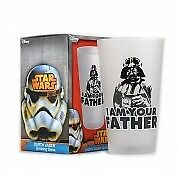 Star Wars Darth Vader I Am Your Father Drinking Glass Tumbler Frosted Disney