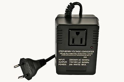 VCT VM-200 Deluxe Step Down Voltage Converter for Travel