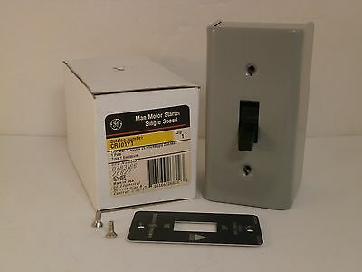 Ge Manual Motor Starter W/type 1 Enclosure Cr101Y1 *new Surplus In Box*