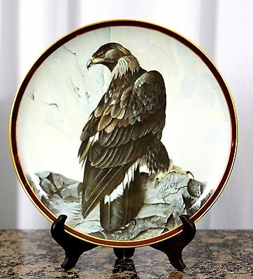 1983 Golden Eagle C. Ford Riley Hamilton Collection Majestic Birds Plate 10 1/4""
