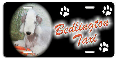 Bedlington Terrier Taxi Line License Plate (( LOW CLEARANCE PRICE ))