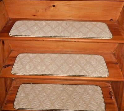 """13 =STEP 9"""" X 30"""" + Landing 29'' x 30'' Stair Treads Staircase Woven Wool CARPET"""