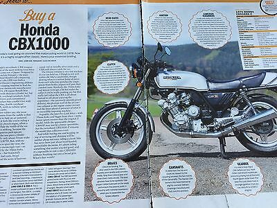 Honda Cbx 1000 # 1979 Model # Buying Guide # 3 Page Original Motorcycle Article