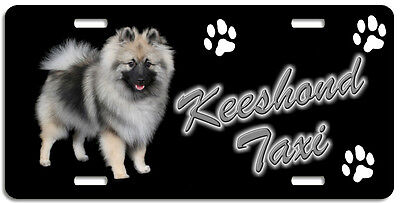 Keeshond 1 Taxi Line License Plate (( LOW CLEARANCE PRICE ))