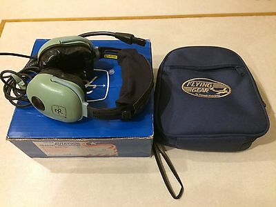 David Clark H20-10 Pilots Aviation Headset with carry case and original box