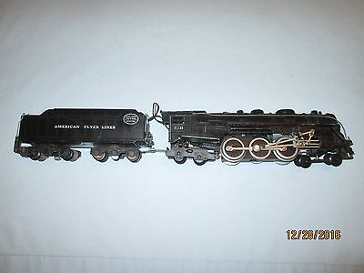 American Flyer #21130 4-6-4 Hudson Steam Locomotive- Runs and Smokes Well!! VG