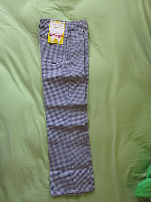 70's Vintage Wrangler Houndstooth Pattern Boys/Girls Size 10 Regular Pants Jeans