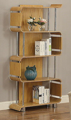 Curved Ash Designer Bookcase Shelving Unit by Jual Furnishings BS201