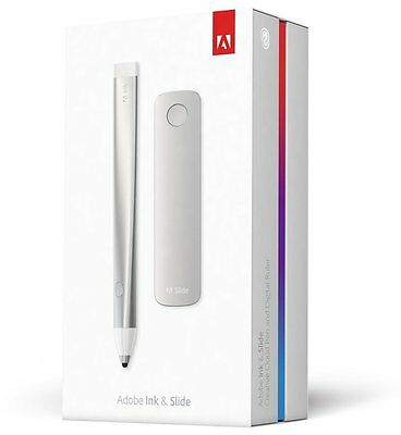 Adobe Ink & Slide Creative Cloud Stylus Digital Sketching Pen And Ruler For iPad