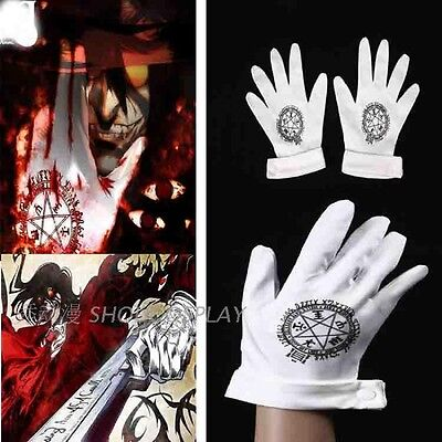 Hellsing Cosplay Alucard Gloves only Costume UK
