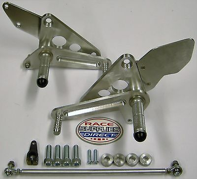 "CB500 Race Rearsets Disc Brake Up 2"" Back 3 1/2"" Honda Track Day CB 500 Twin"