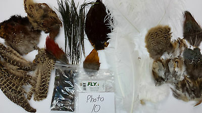 LOT of NATURAL FEATHER PACK ASSORTMENT VARIETY photo #10 good for FLY TYING KIT