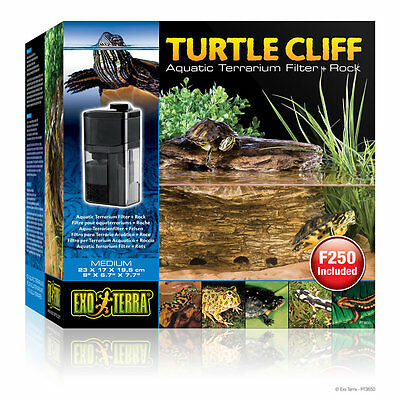 Exo-Terra Turtle Cliff Aquatic Turtle Dock With Filter Medium Terrapin Basking