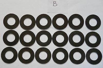 six sets of Roys Carbontex drag washers suitable for ,shimano Mgs 10000/12000xtb