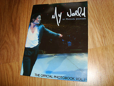 SUPER RARE BOOK My world by Michael Jackson 1st and ONLY PRINTING NICE PHOTOS