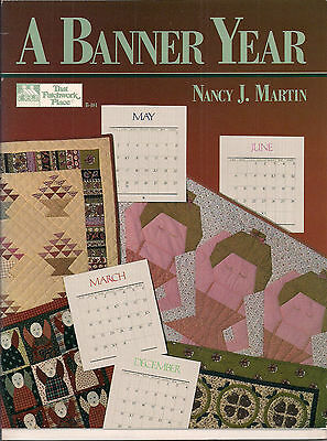 Livre Patchwork A BANNER YEAR (quilts) Nancy J Martin That Patchwork Plac
