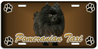 Pomeranian black Taxi Line License Plate (( LOW CLEARANCE PRICE ))