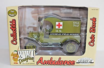 Gearbox Collectible Die Cast Ford Model T Ambulance Coin Bank