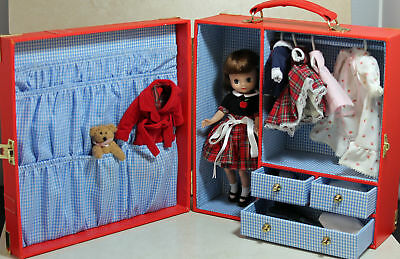 """Signed Betsy McCall 8"""" 50th Anniversary Red Trunk, Doll Clothing Acessories"""