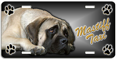 Mastiff  2 Taxi Line License Plate (( LOW CLEARANCE PRICE ))