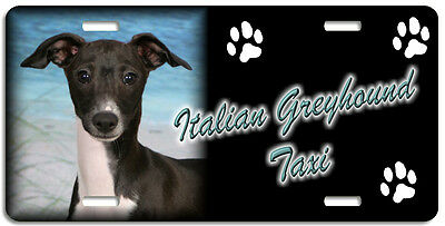 Italian Greyhound 3  Taxi Line License Plate (( LOW CLEARANCE PRICE ))