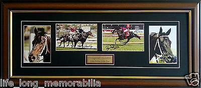 Octagonal and Lonrho Like Father Like Son Signed Framed Horse Racing Memorabilia