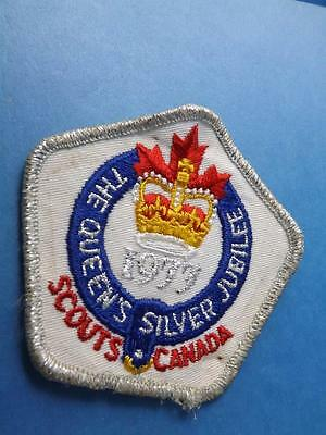 Boy Scouts Canada The Queen's Silver Jubilee 1977 Patch Vintage Collector