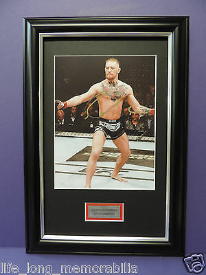 Connor McGregor UFC CHAMPION SIGNED FRAMED