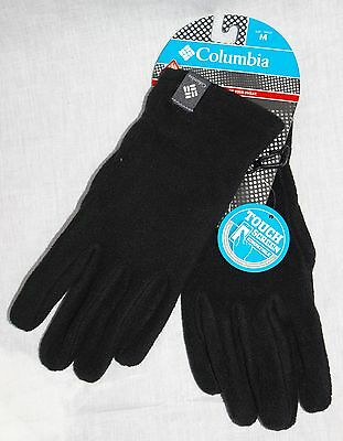 Columbia womens OmniHeat touch screen fleece winter gloves Black S M L XL