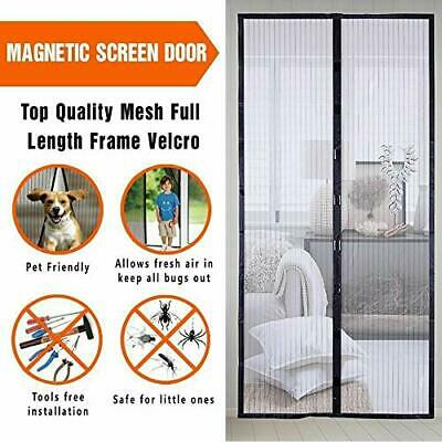 Hands Free Magic Mesh Screen Net Door with 26 magnets Anti Mosquito Bug Curtain