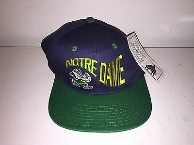 NWT Vintage 1990s NOTRE DAME FIGHTING IRISH Fitted Hat Cap - Size 7 1/8 New