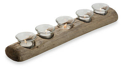 New Tanoak Wooden Runner With 5 Tealight Candle Holder Setting Centrepiece