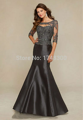 Plus Size Mother Of The Bride Dress Mermaid Elegant Lace Evening Prom Party Gown