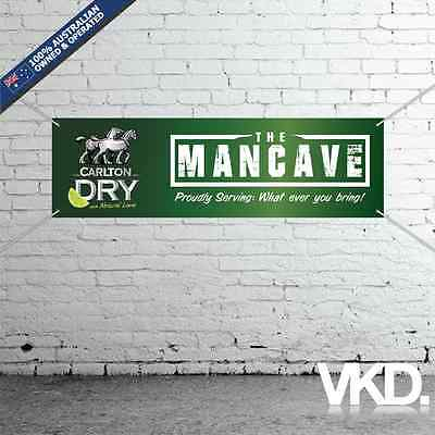 Carlton Dry Lime Mancave Banner - Man Cave Bar New Custom Personalised Beer Can
