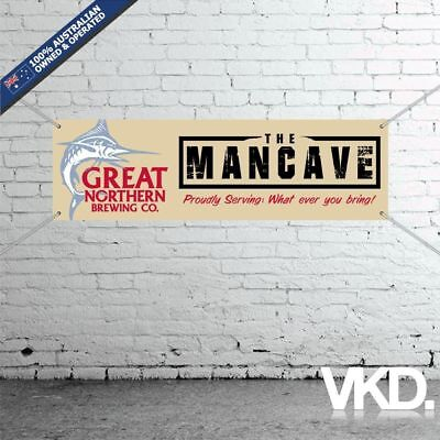 Great Northern Brewing Co. Mancave Banner - Man Cave Bar New Personalised Beer