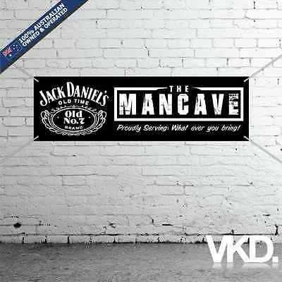 Jack Daniels Mancave Banner - Man Cave Bar New Personalised Tennessee Whiskey