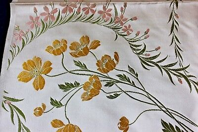 Beautiful French Lyon c1860-1880 Floral Patterned Silk Jacquard Antique Textile