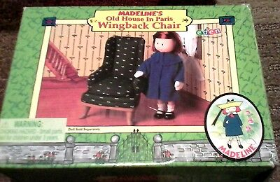2000 Eden Madeline's Old House In Paris Doll Furn Wing Back Chair Please Read