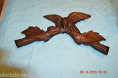 Antique Cuckoo Clock Topper with eagle for parts or project